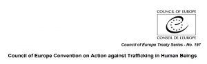 Cover Council of Europe Convention on Action against Trafficking in Human Being