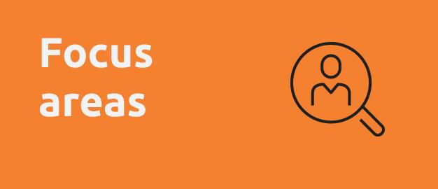 text focus areas on orange background