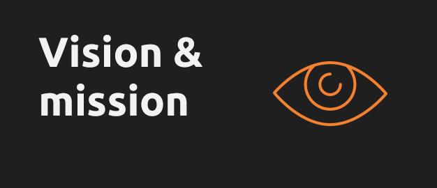 orange eye on black background