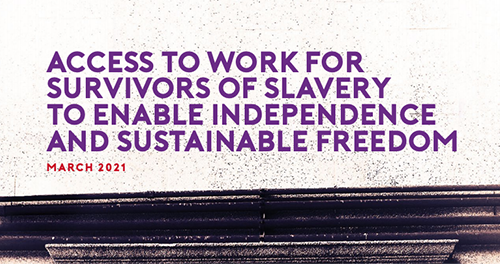 access to work for survivors of slavery